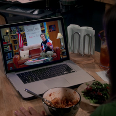 Amy watching Sheldon rant about them.
