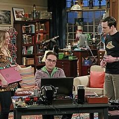 Leonard with Sheldon and Penny.