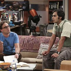 Raj and Leonard stuck on ideas.