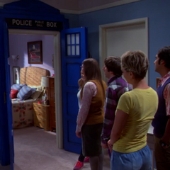 The TARDIS door on Amy's bedroom.