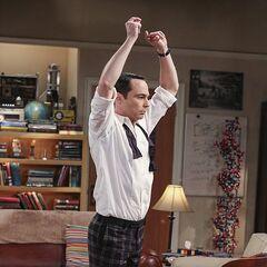 Sheldon doing the flamenco.