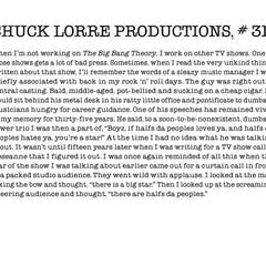 Chuck Lorre Productions, #311.