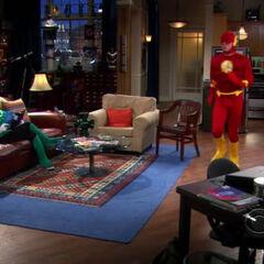 Sheldon as the Flash pacing.