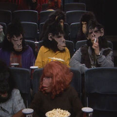 The guys at the Planet of the Apes marathon.