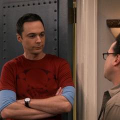 Arguing with Leonard.