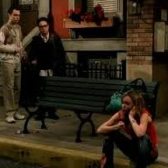 Leonard and Sheldon find Katie on the street homeless.