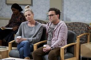 Leonard and Penny in waiting room