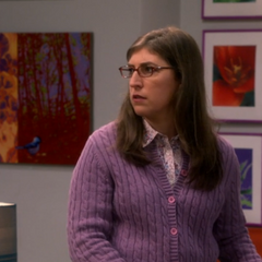 Stunned when Sheldon asks about her apartment.