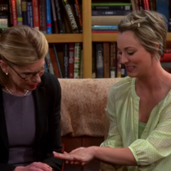 Showing Beverly her ring.