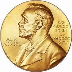 The Nobel Prize medal.
