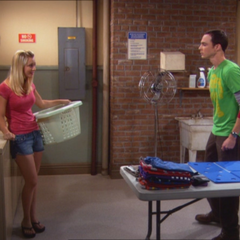 Penny consulting with Sheldon about Leonard.