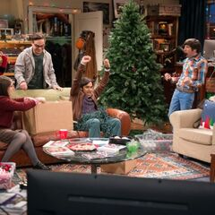 No rules for trimming the tree since Sheldon is absent.