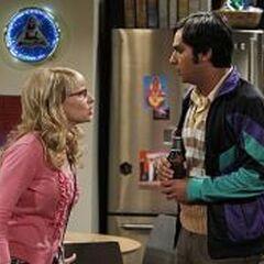 Bernadette yelling at Raj.