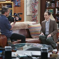 Sheldon being interviewed by Adam Nimoy.