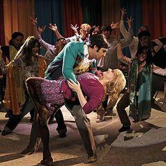 Raj's daydream dance with Bernadette.