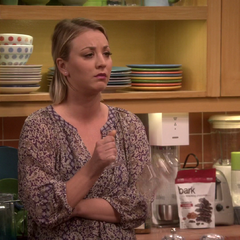 Penny breaks a wine glass in her hand after Sheldon tells her and Bernadette about planning on having coitus with Amy.