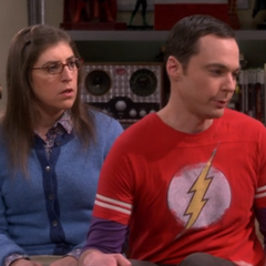 Sheldon defending Amy.