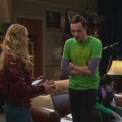 Sheldon complaining about the theft.