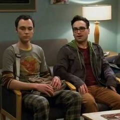 Sheldon and Leonard in the doctor's waiting room.