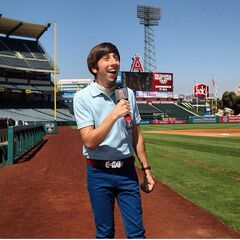 Howard at Angels Stadium.