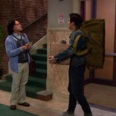 Sheldon's former roommate leaving.
