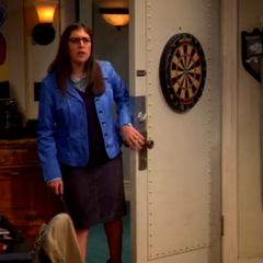 Amy is searching for Sheldon.