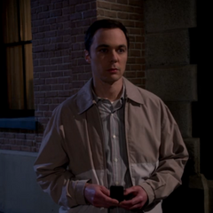 Sheldon watching Amy ending a date with another man.