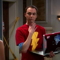 Sheldon cannot use his throat.