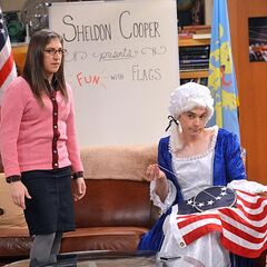 Sheldon playing Betsy Ross.