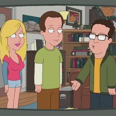 The guys guest starring on Family Guy.