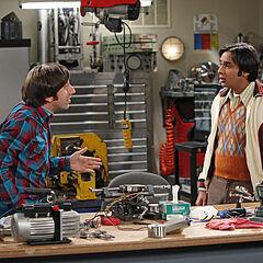 Raj and Howard at work.