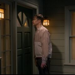 Sheldon peaking in his window.