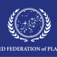 The <i>United Federation of Planets</i> flag.<a  class=