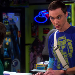 Sheldon making a point to Howard.