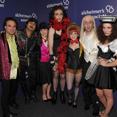 The cast dressed up for a Rocky Horror Picture Show sketch.