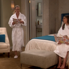Penny and Amy at the spa.
