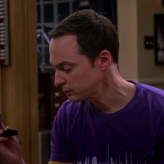 Sheldon with an engagement ring. Amy may have blocked Sheldon's proposal.