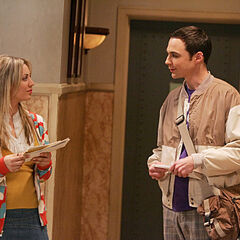Sheldon tries small talk with Penny.