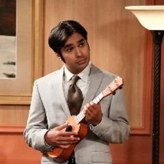 Raj and his ukulele.