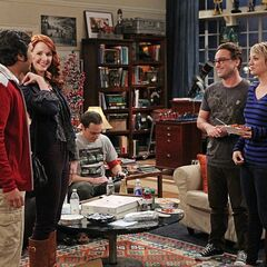 Leonard and Penny meet Raj's girlfriend Emily.