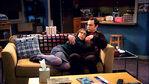 Sheldon and Amy cuddle