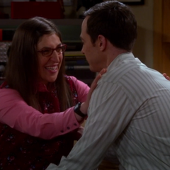 Amy is finally making out with Sheldon.
