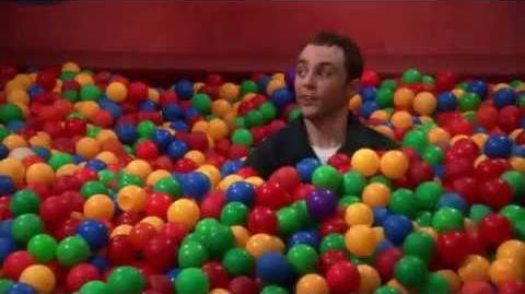 The Big Bang Theory - Sheldon - Bazinga! (in ball pit)