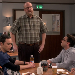 The guys talking to Bert about his grant.