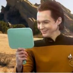 Sheldon as Lt. Commander Data.