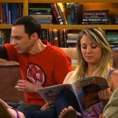 Sheldon and Penny hanging together both missing Leonard.