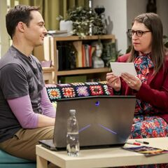 Sheldon prepared Amy some Q&A's.