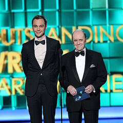 Two TBBT winners at the 2013 Emmy Awards. (Bob Newhart is the second).
