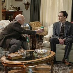 Mike offers Sheldon a beer since he never had one with his father.