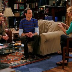 Penny asking Leonard and Sheldon trivia questions.